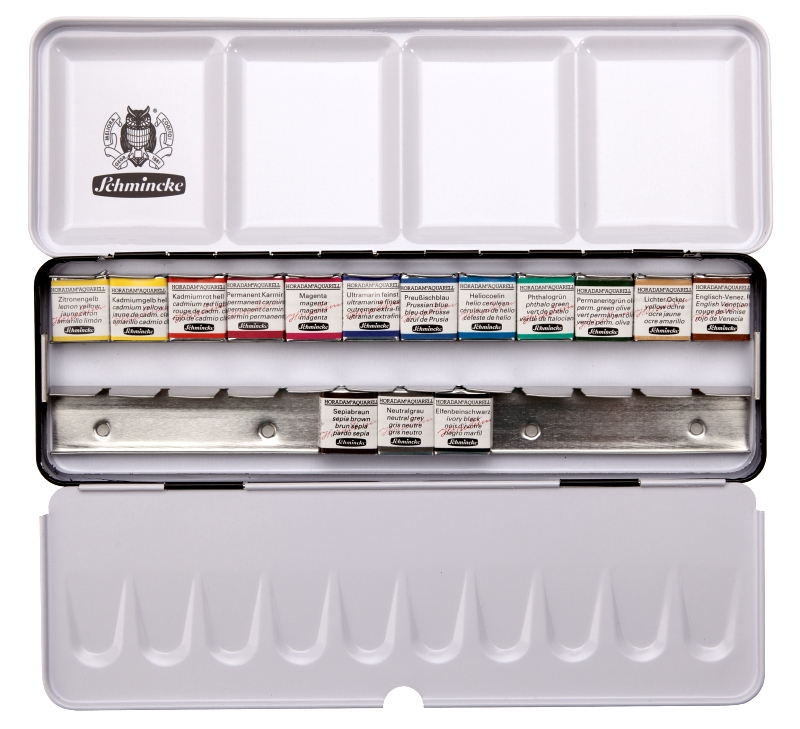 SCHMINCKE - HORADAM FINEST WATERCOLOUR PAINTS - 15 HALF